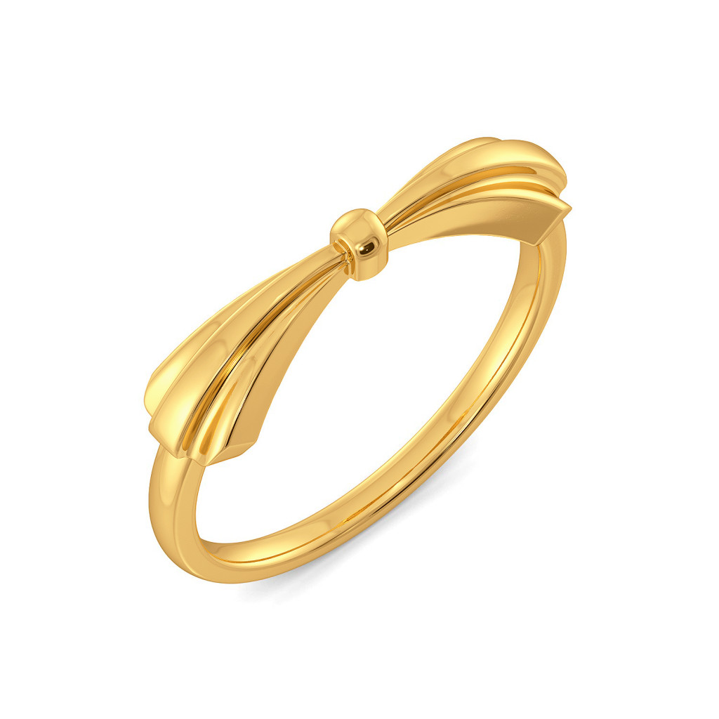 Butterfly Knots Gold Rings