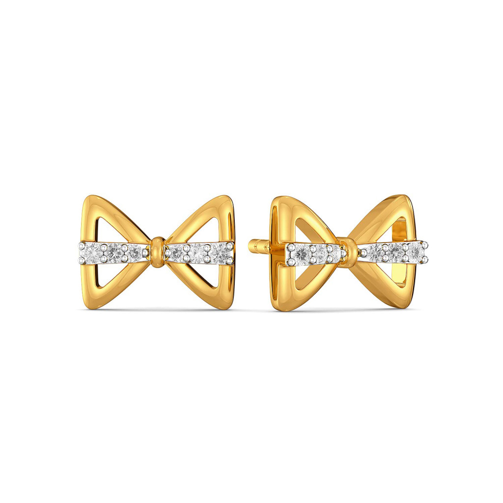 Bow Wrap Diamond Earrings