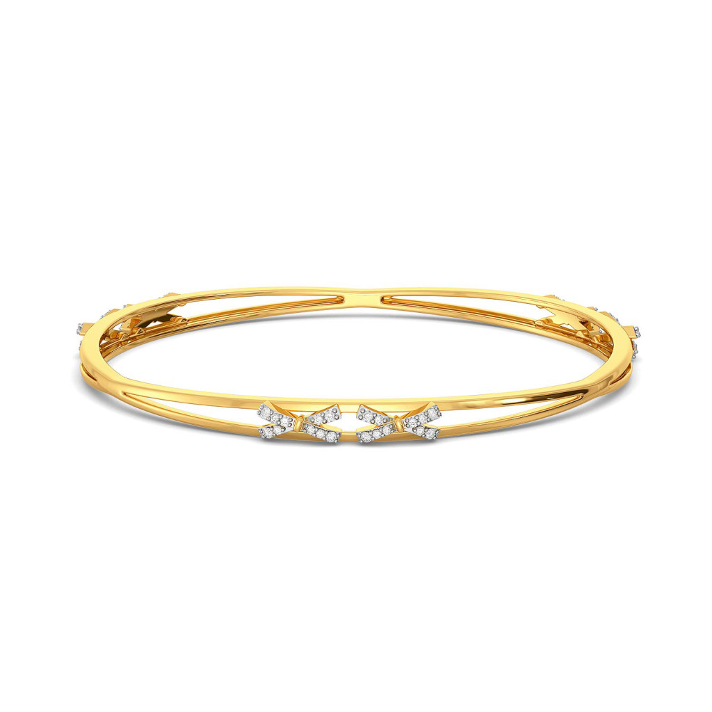 Bow Wrap Diamond Bangles