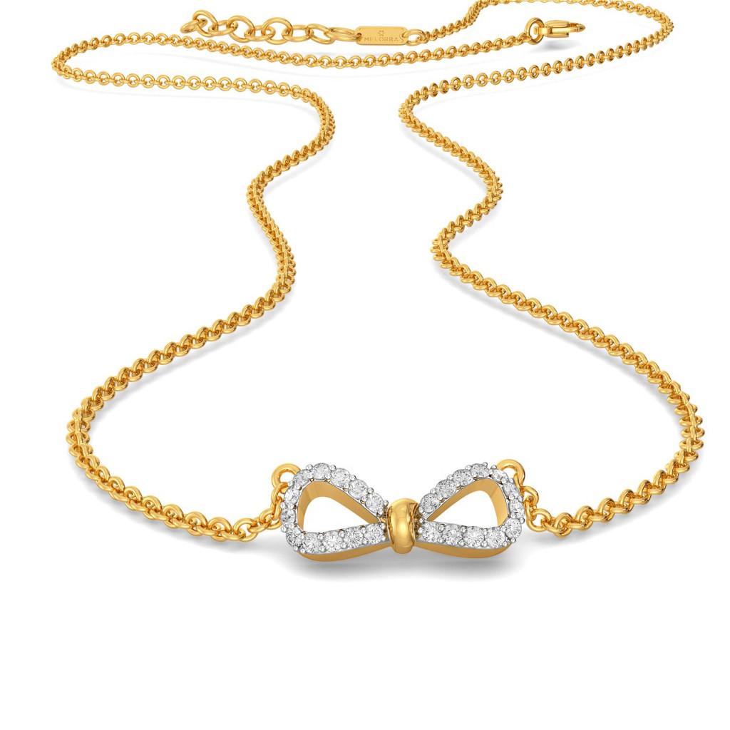 Goofy Loops Diamond Necklaces