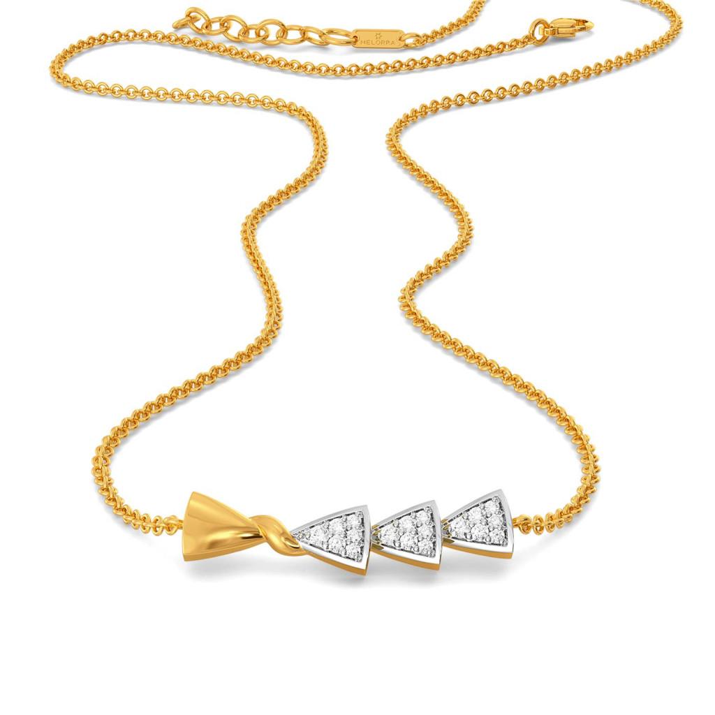 The Knot Plot Diamond Necklaces