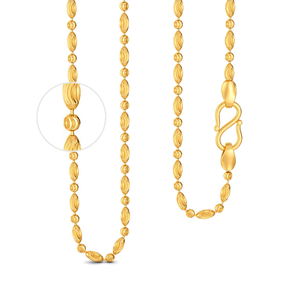 22kt Beaded Chain Gold Chains
