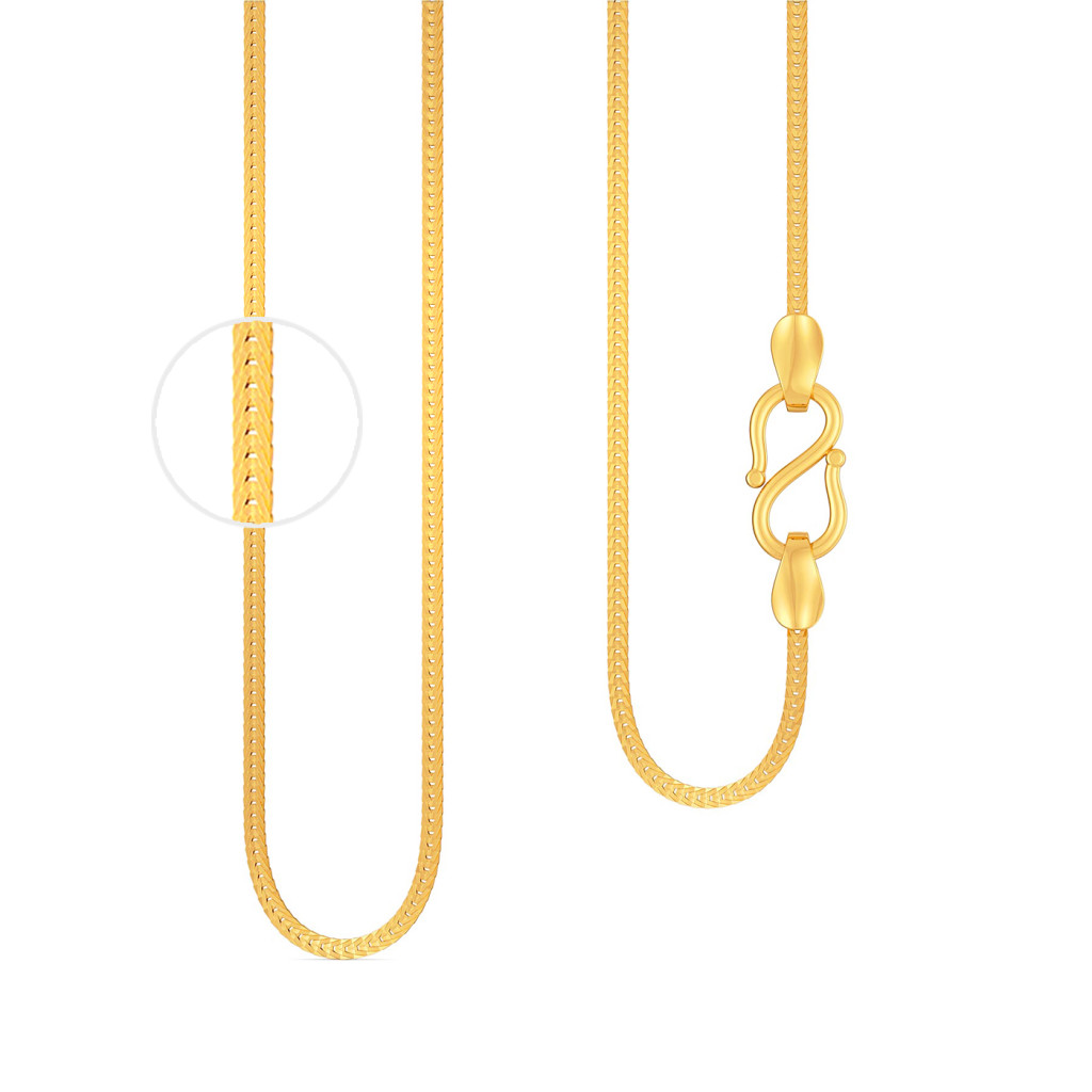 22kt Herringbone Chain Gold Chains