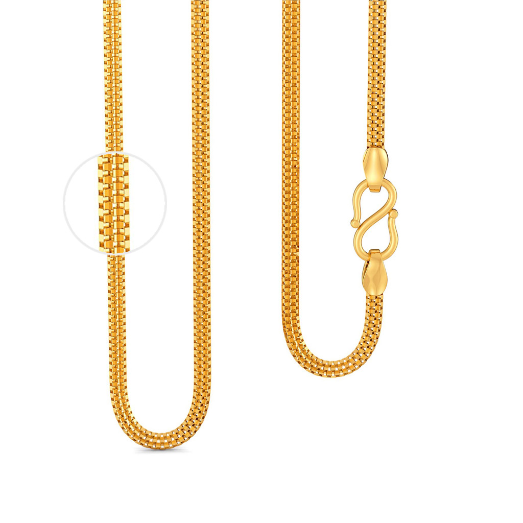 22kt Venetian 3 Row Chain Gold Chains