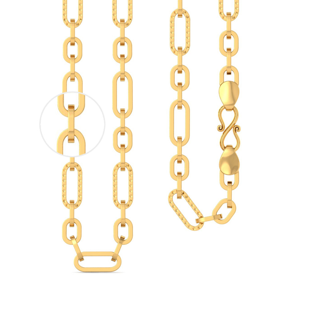 22k Dual Oval Link chain Gold Chains