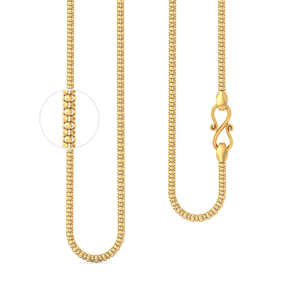 22kt Popcorn chain Gold Chains