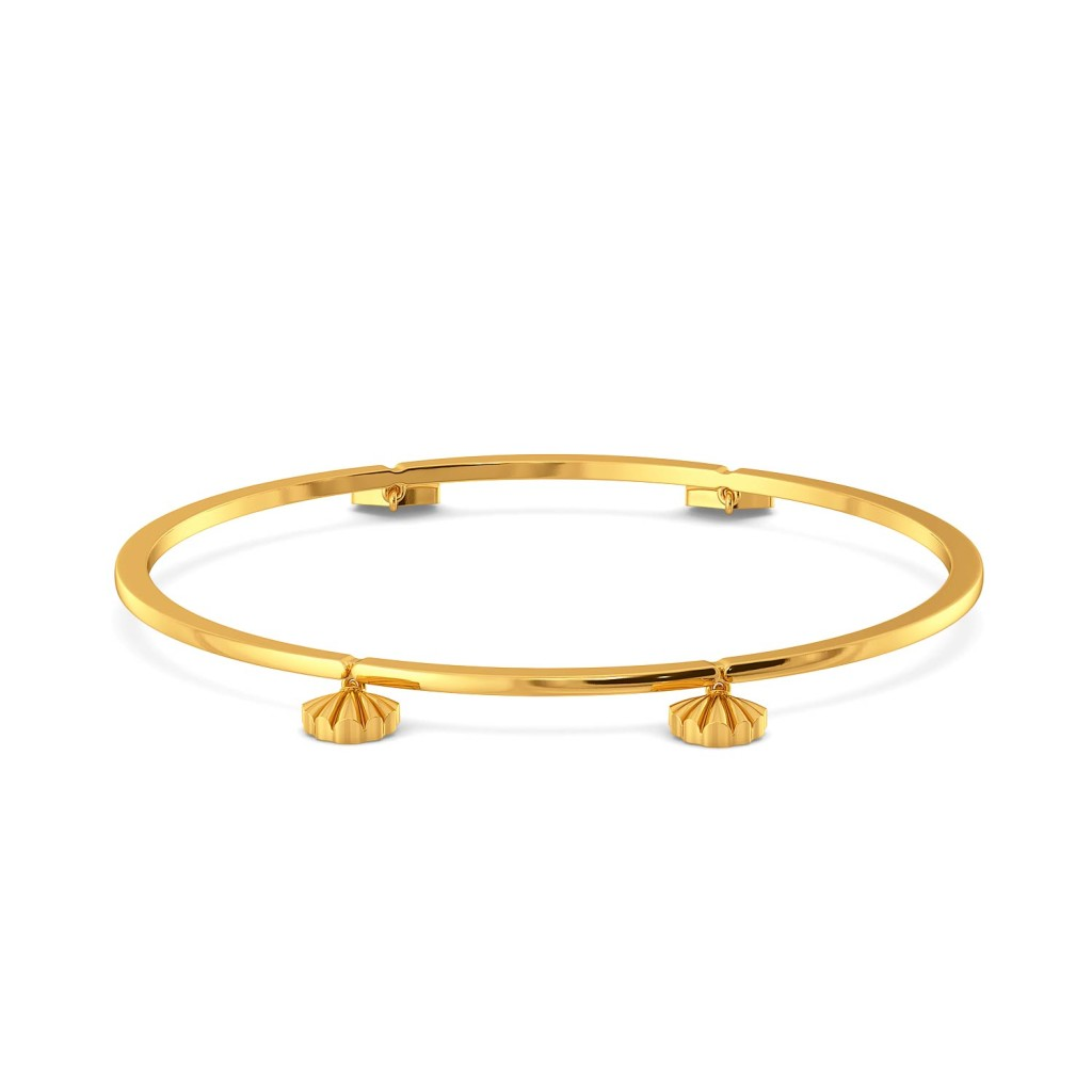Cease Scallop Gold Bangles