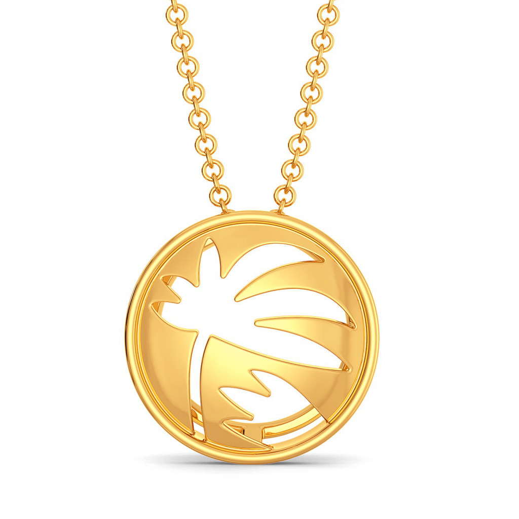 The Tropical Trivia Gold Pendants