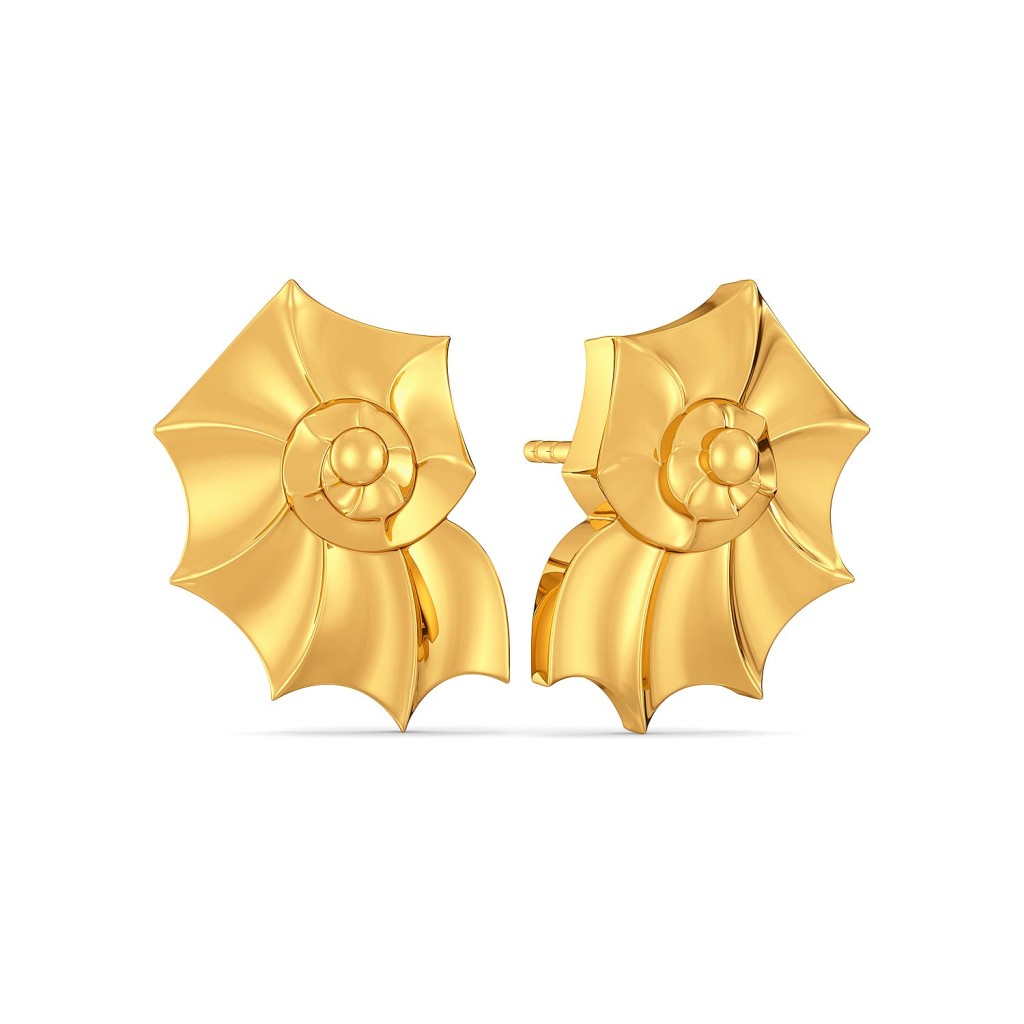 Crafty Clams Gold Earrings