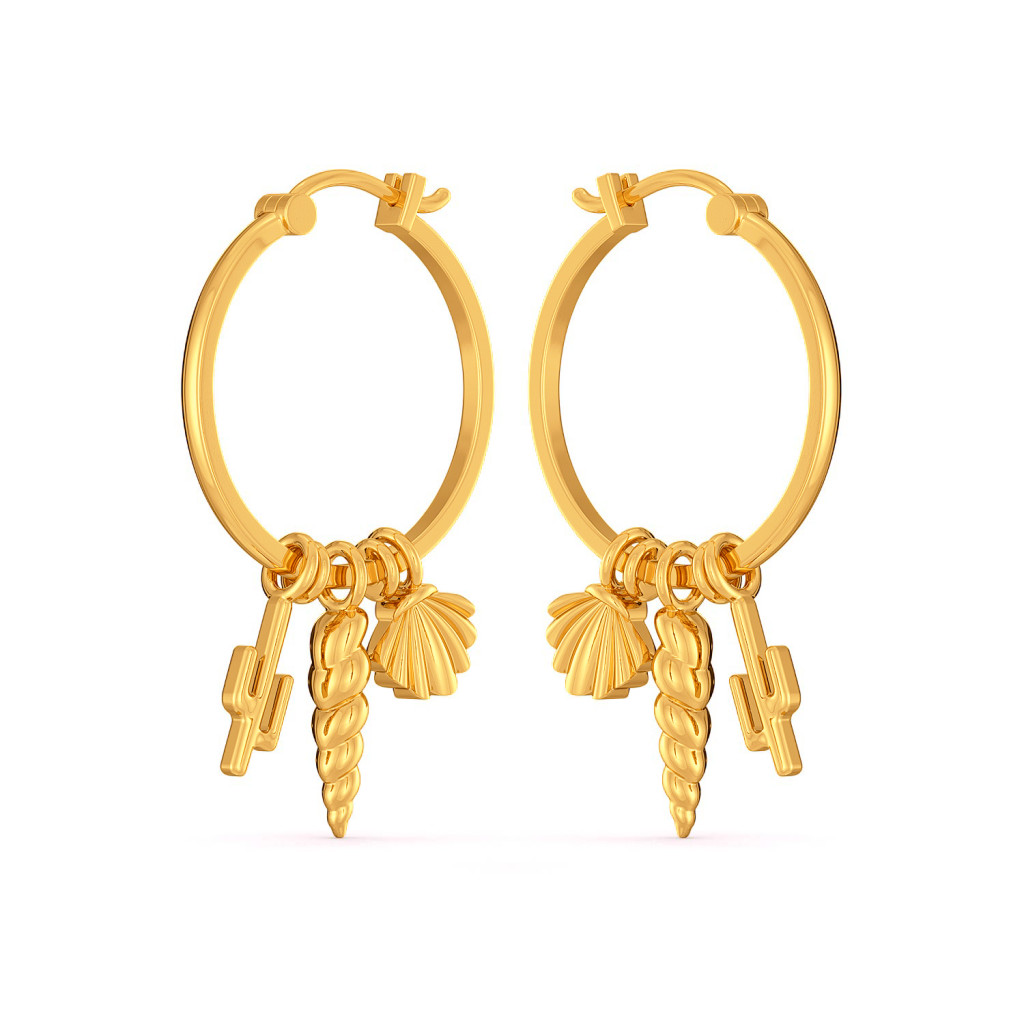 The Beachy Bunch Gold Earrings