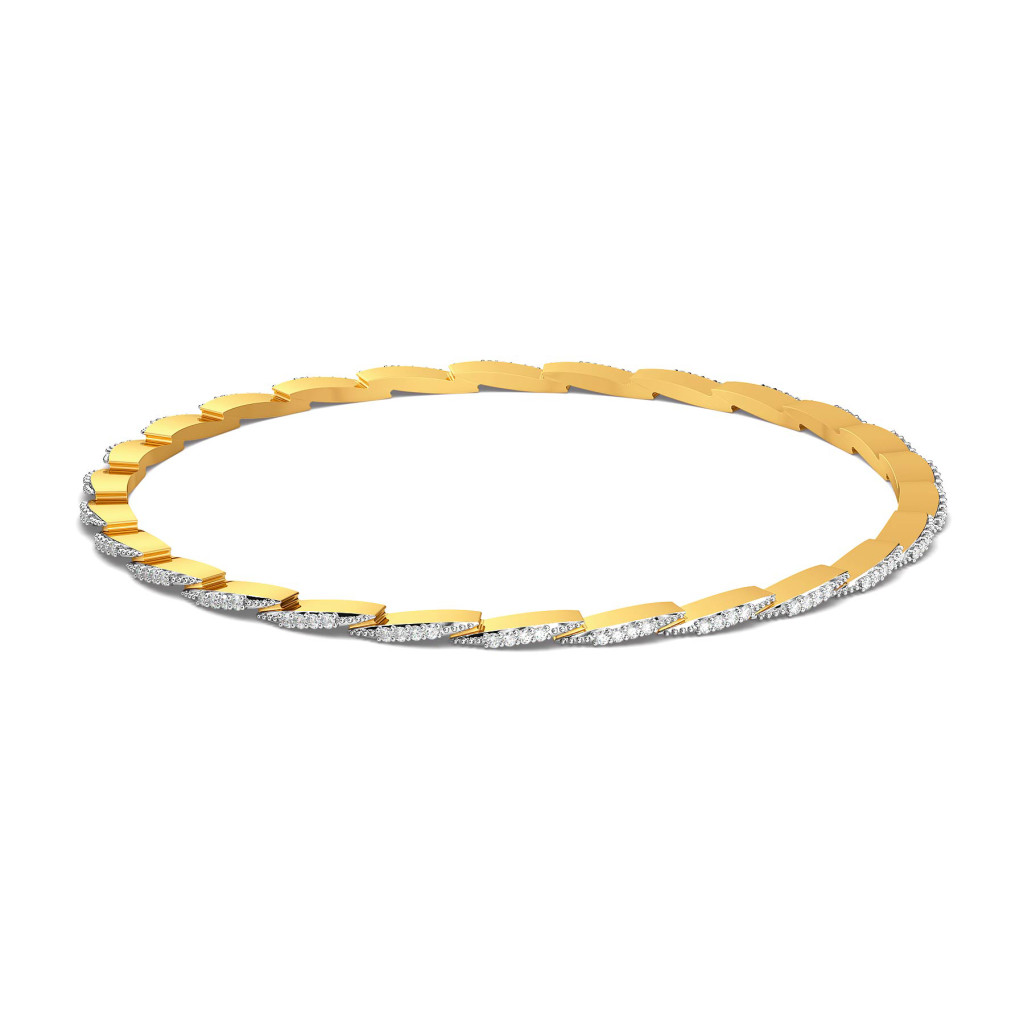 Stun A Fern Diamond Bangles