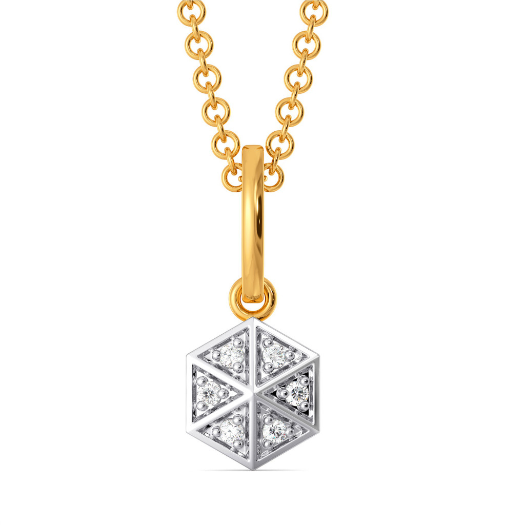Go Gingham Diamond Pendants