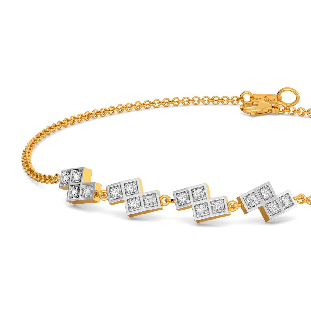 Plaid Ful Diamond Bracelets