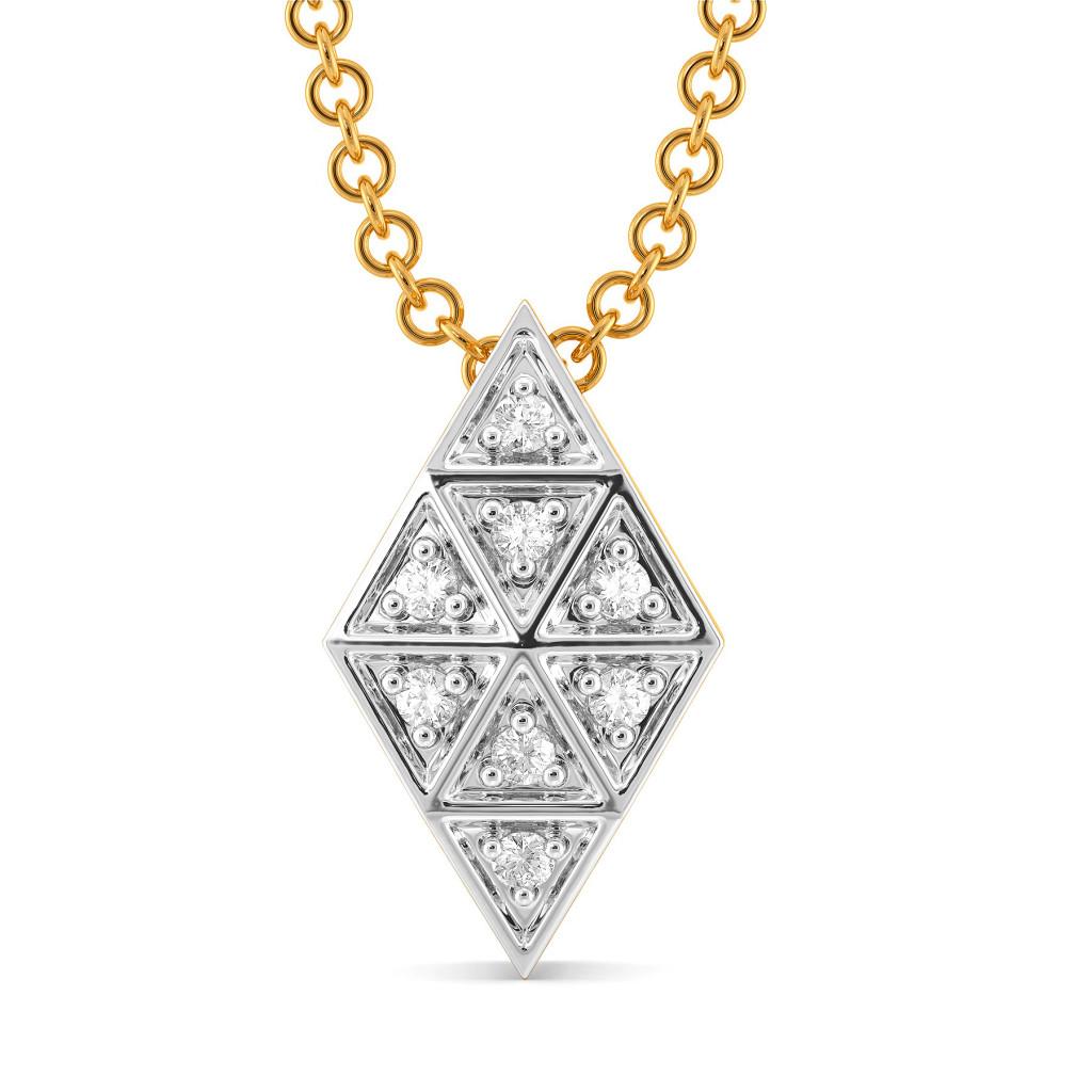 Plaid Play Diamond Pendants