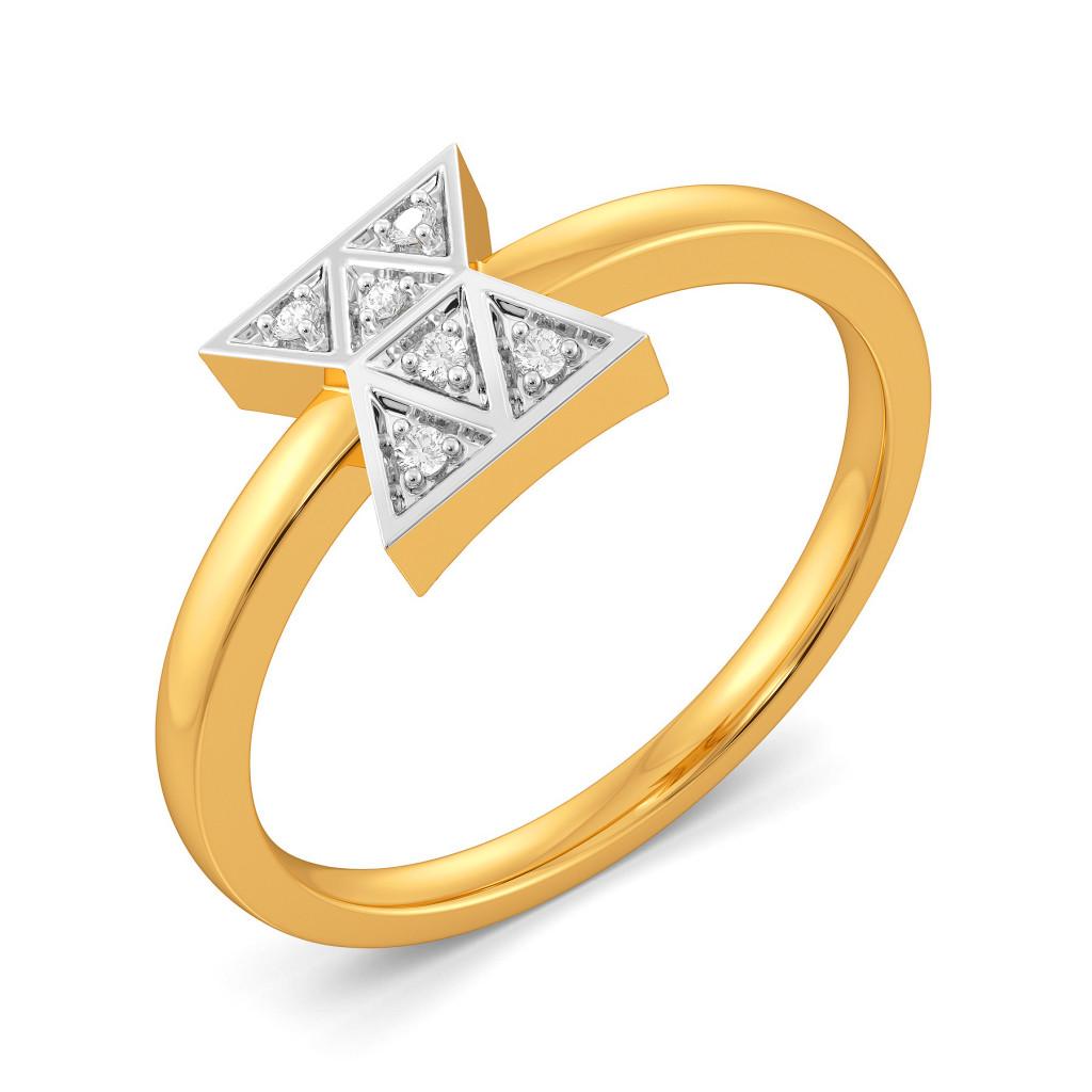 The Plaid Patch Diamond Rings