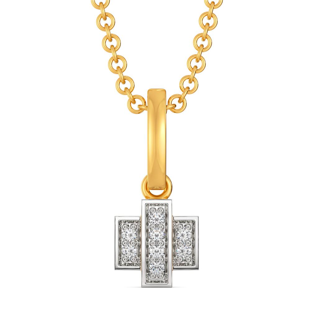 Casual Checks Diamond Pendants