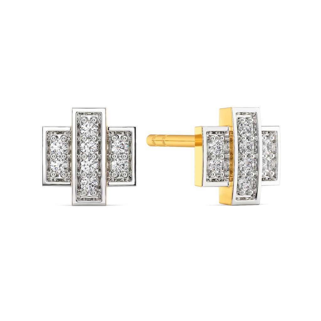 Casual Checks Diamond Earrings