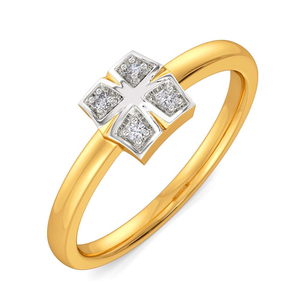 Plaids Up Beat Diamond Rings