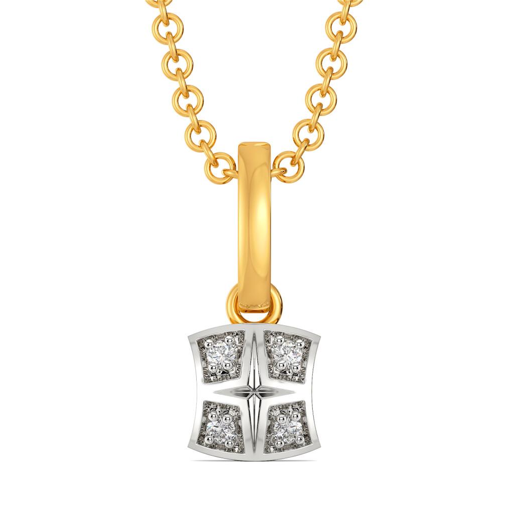 Plaids Up Beat Diamond Pendants