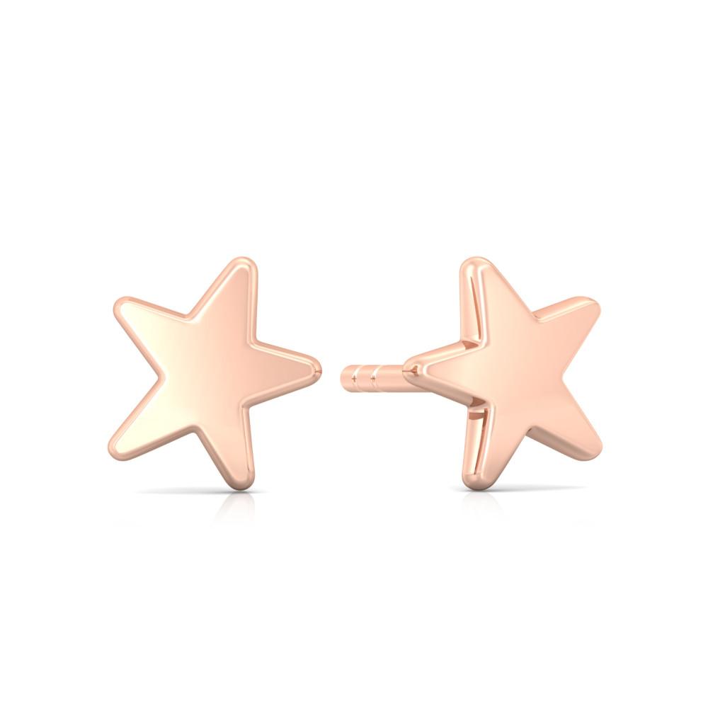 Star Love Gold Earrings