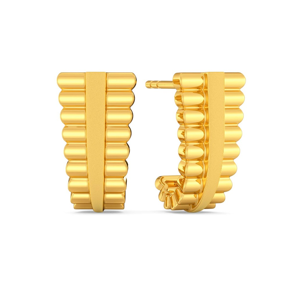 Grecian Glamour Gold Earrings