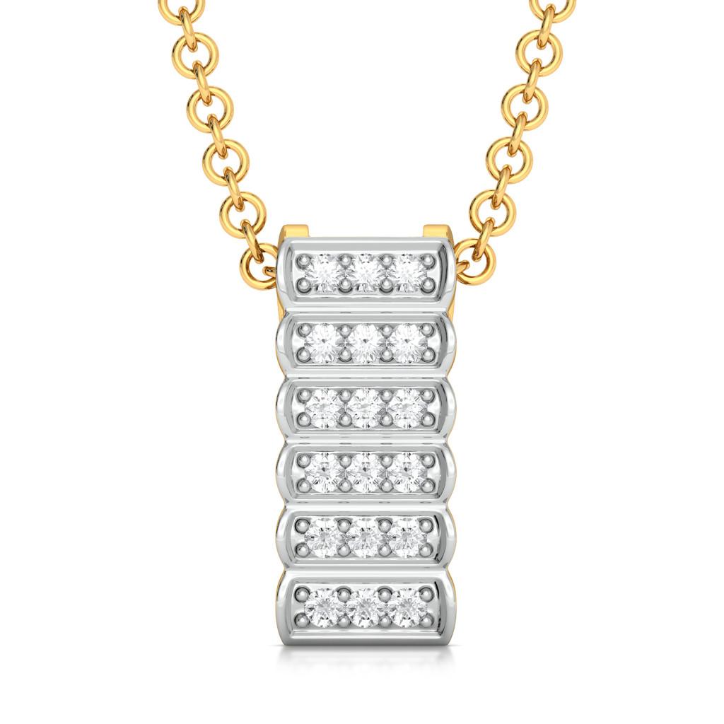 Milky Bar Diamond Pendants