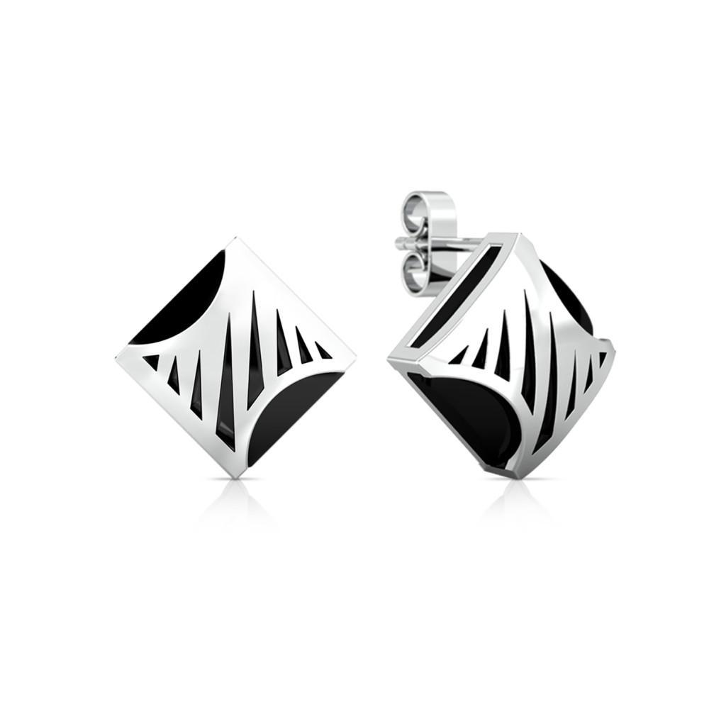 Zebra Crossing Gemstone Earrings