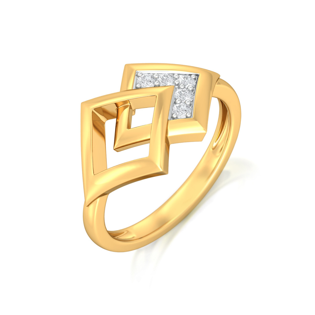 Rhombo Combo Diamond Rings