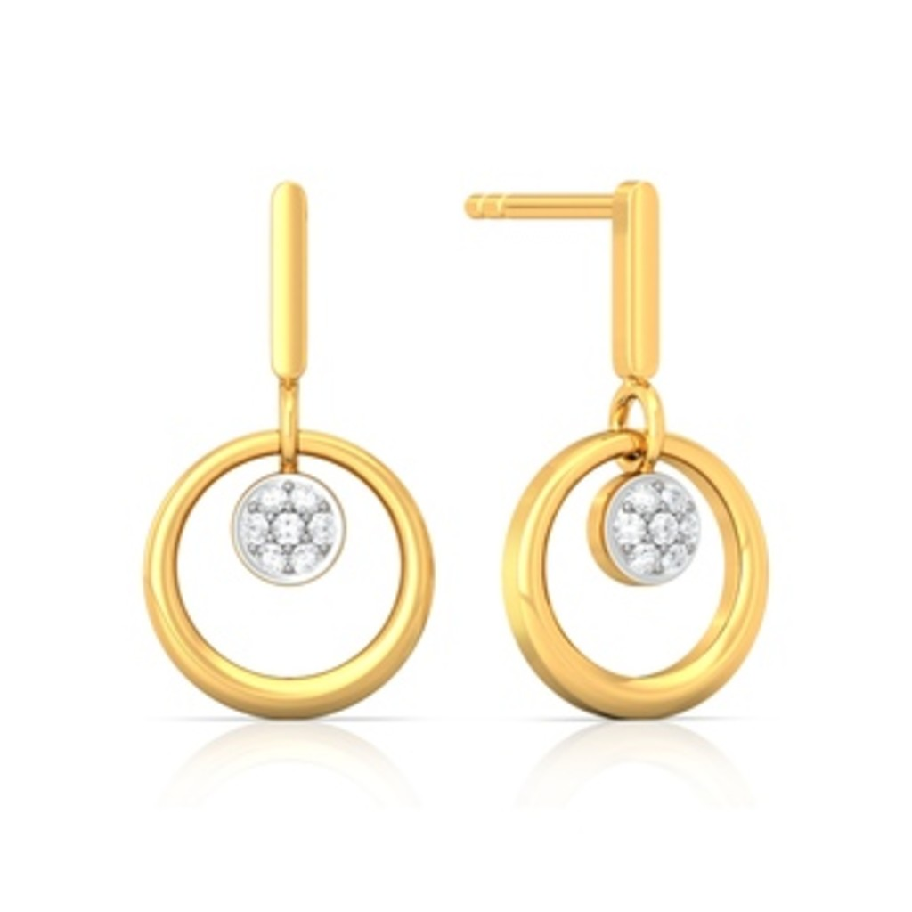Sunflower Diamond Earrings
