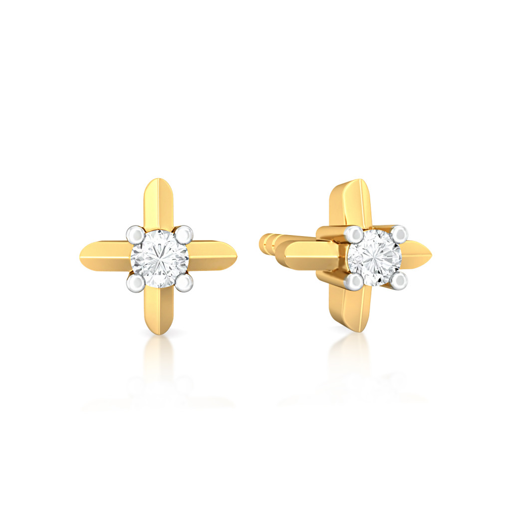 Crossover Gloss Diamond Earrings