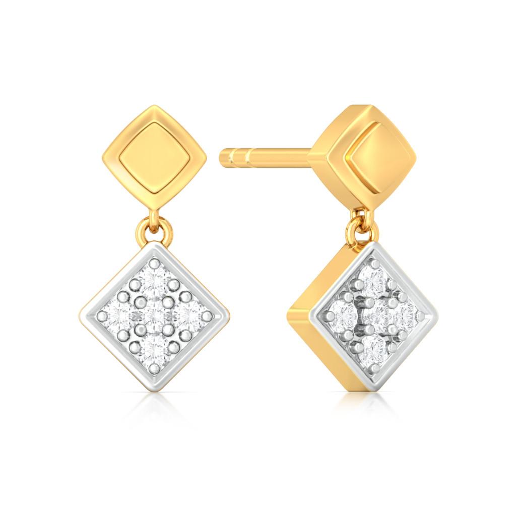 Quad Swag Diamond Earrings