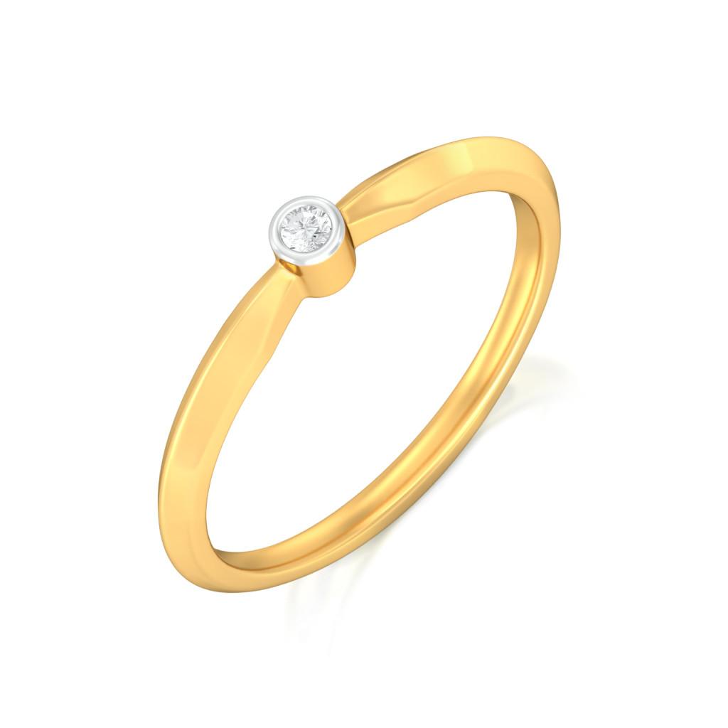 Simple Winkle Diamond Rings
