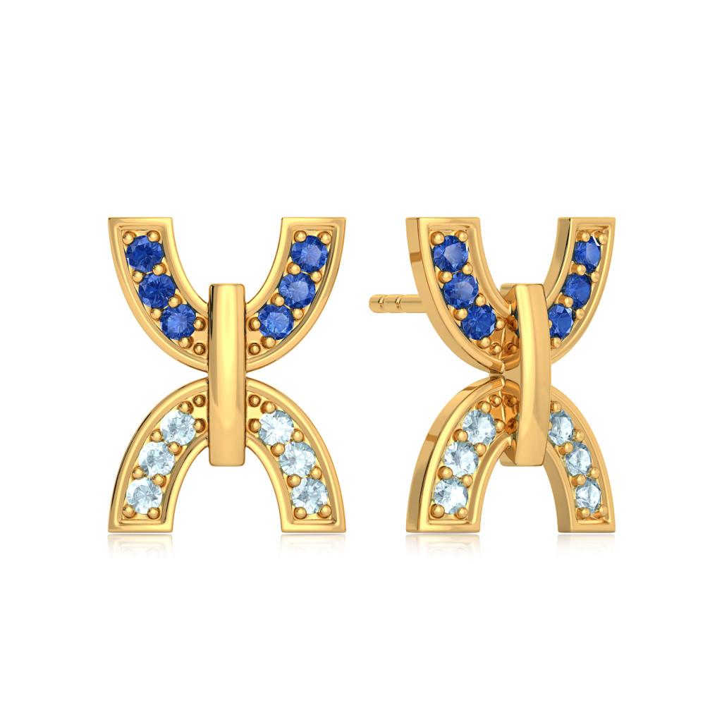 Lunar Eclipse Gemstone Earrings