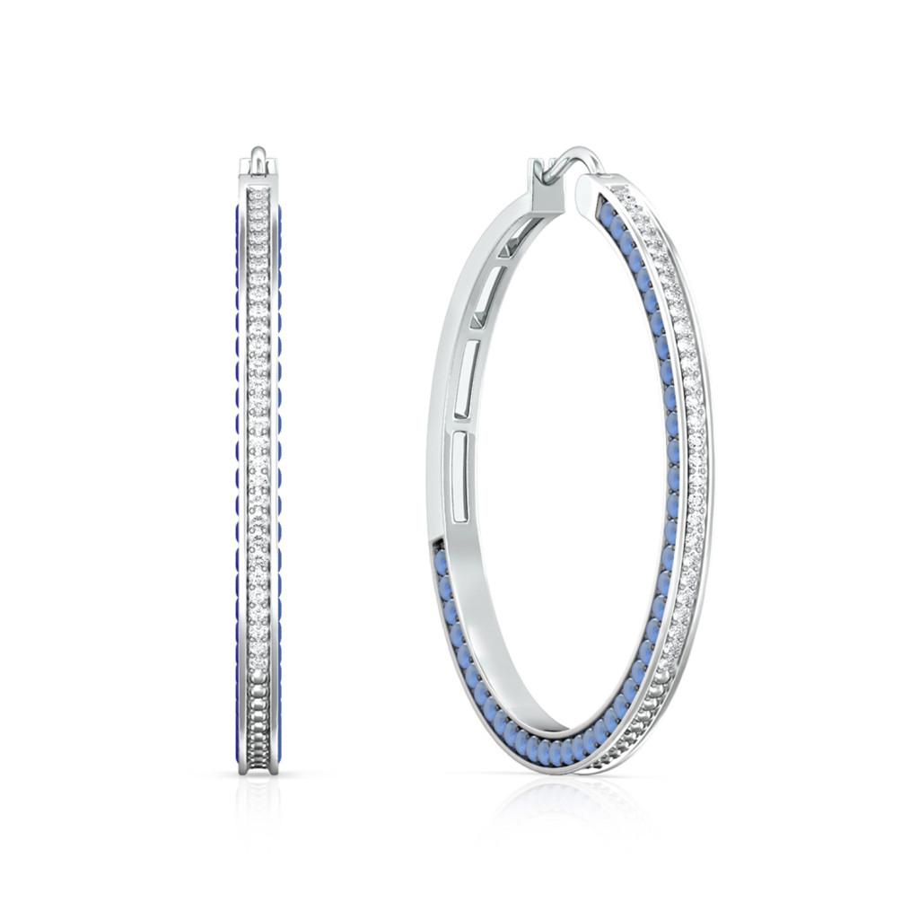 Rainbow Blues Diamond Earrings