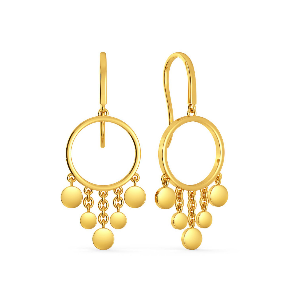 Disco Drama Gold Earrings