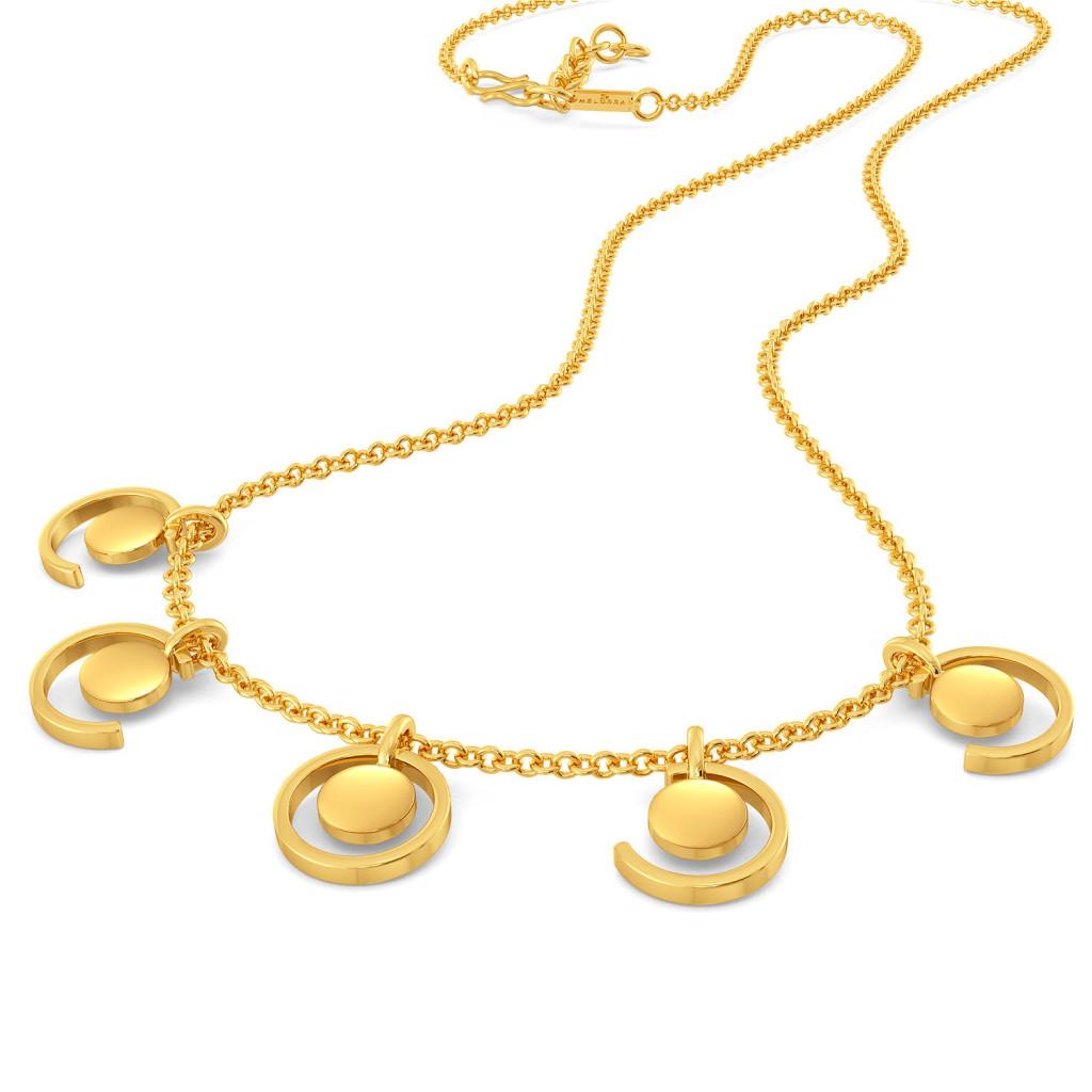 Sequin Sequel Gold Necklaces