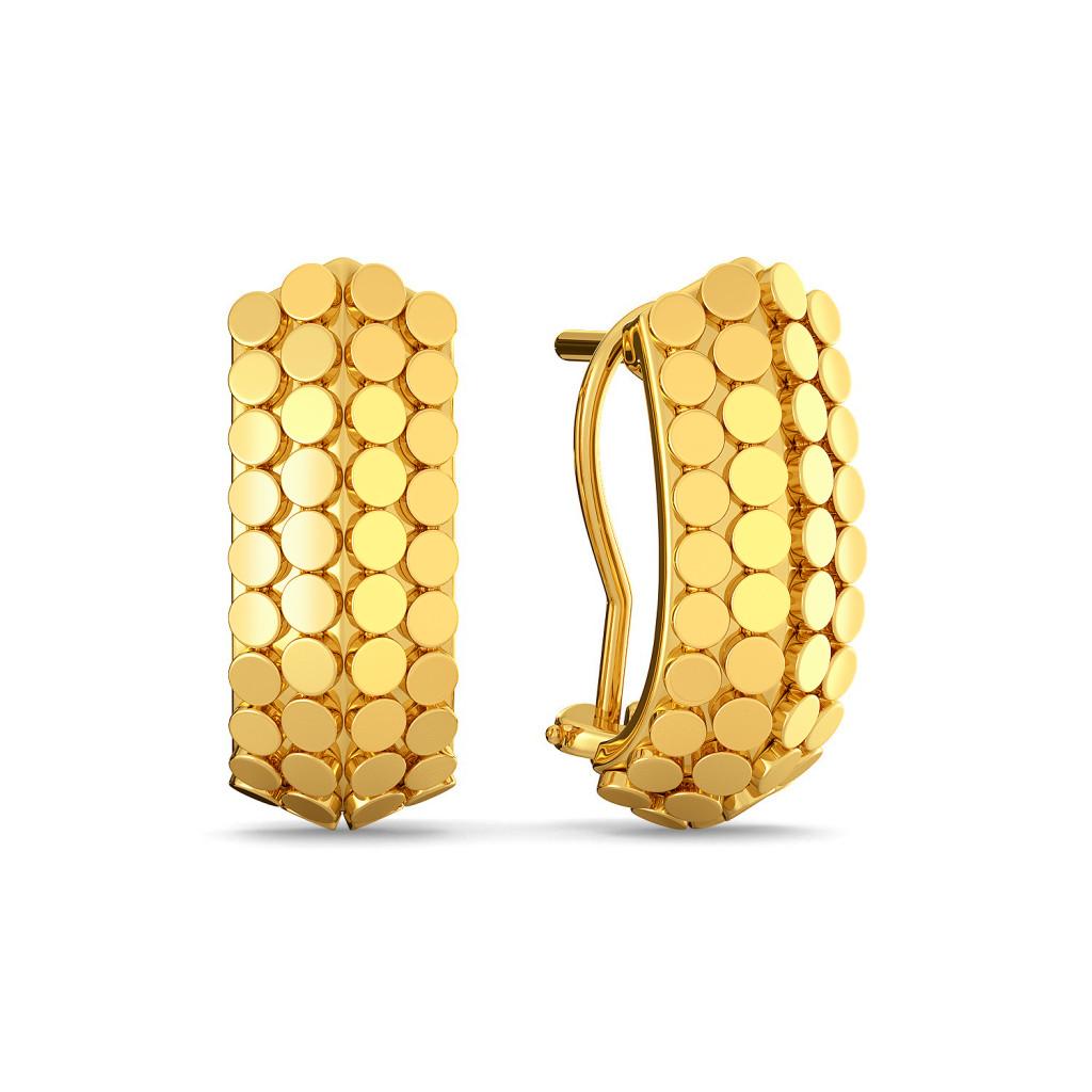 Prove Da Groove  Gold Earrings