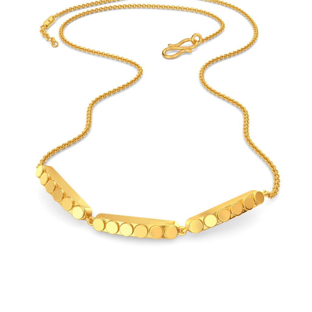 Brisk Disc Gold Necklaces
