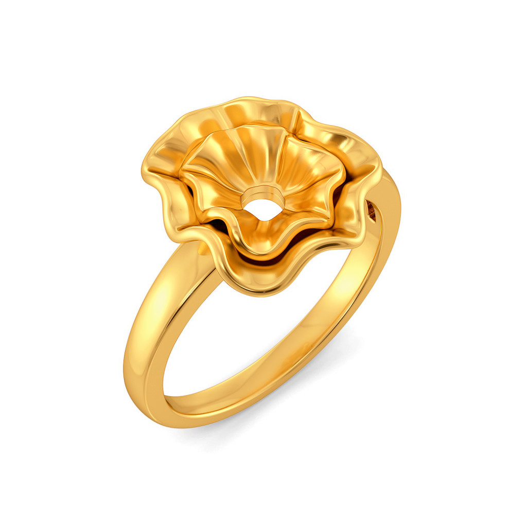 Curvy Cascades Gold Rings