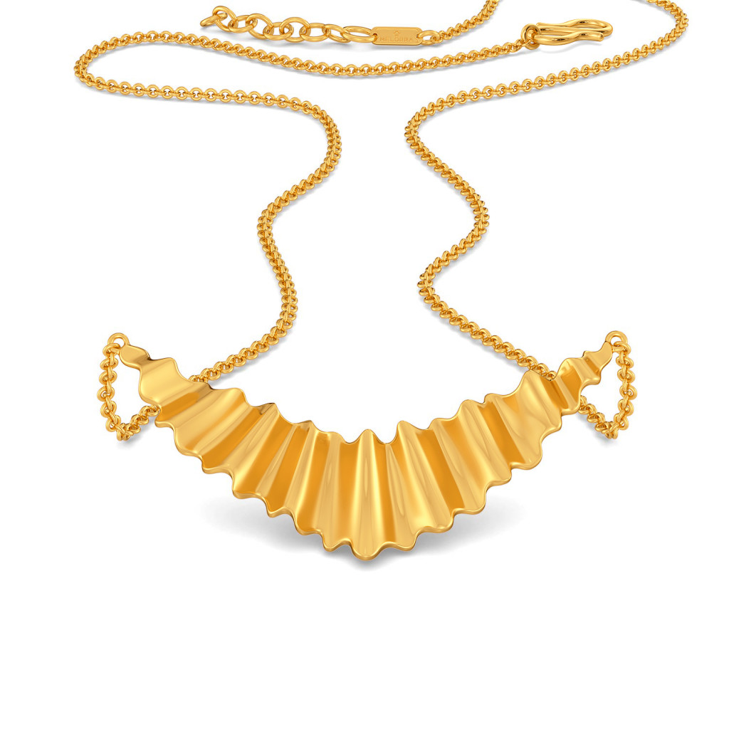 Ruffle Bites Gold Necklaces