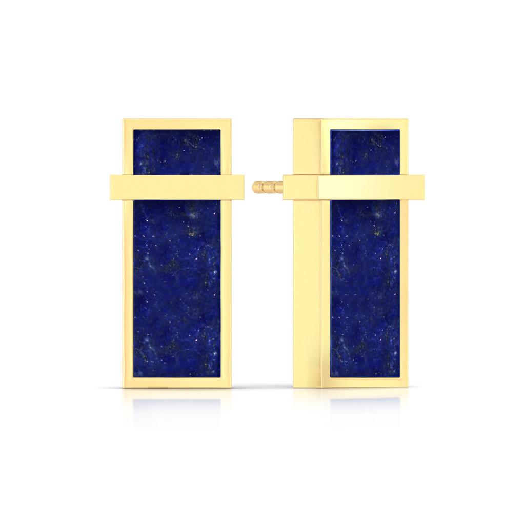 Cobalt Shots Gemstone Earrings