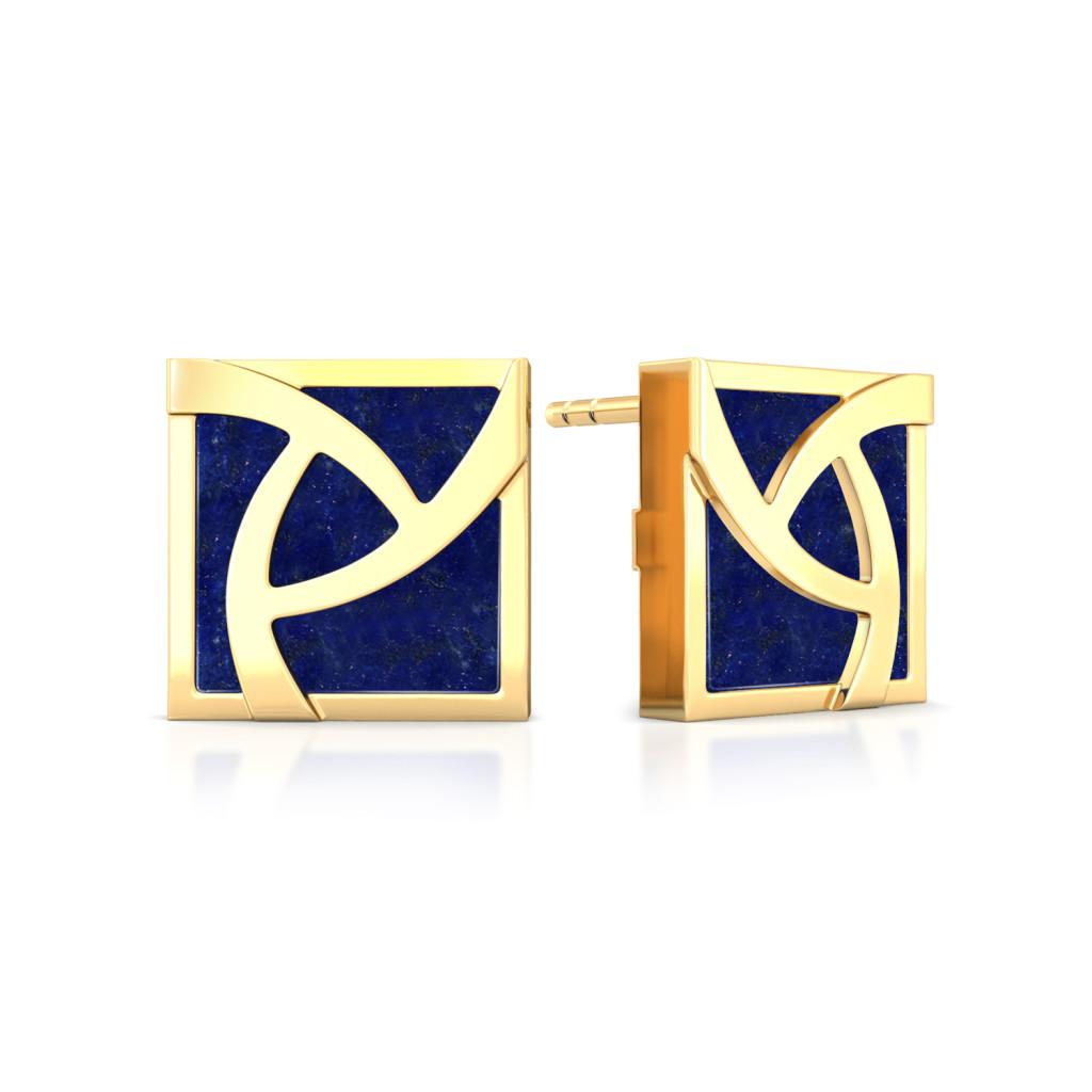 Flame of Iris  Gemstone Earrings