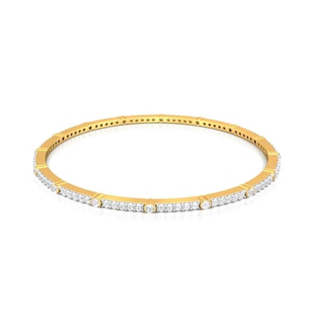 Train of Diamonds Diamond Bangles