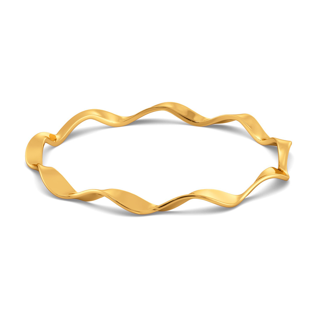 Flair of Loops Gold Bangles
