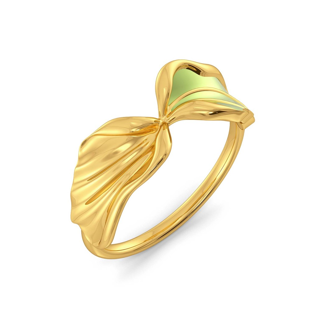 Flax Petale Gold Rings