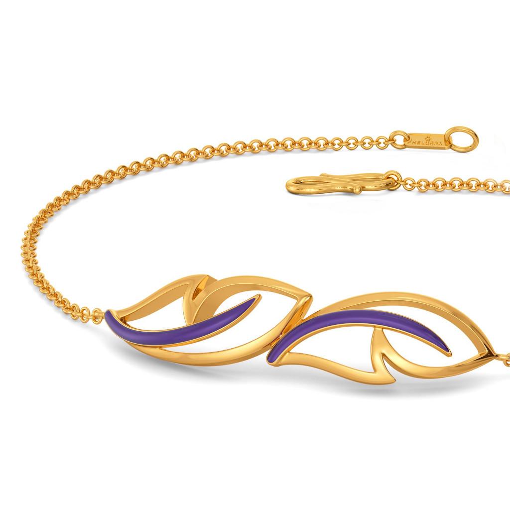 Violet Flutter Gold Bracelets