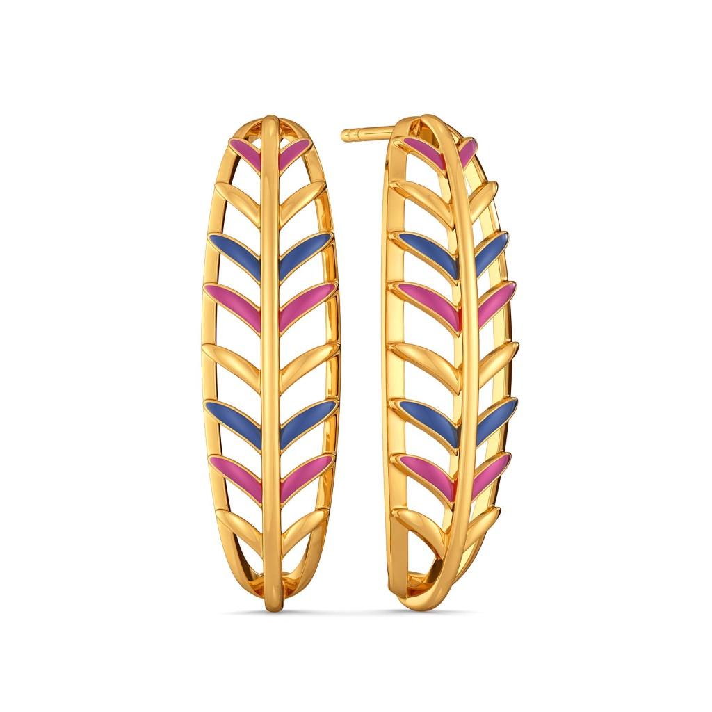 Pop Quills Gold Earrings