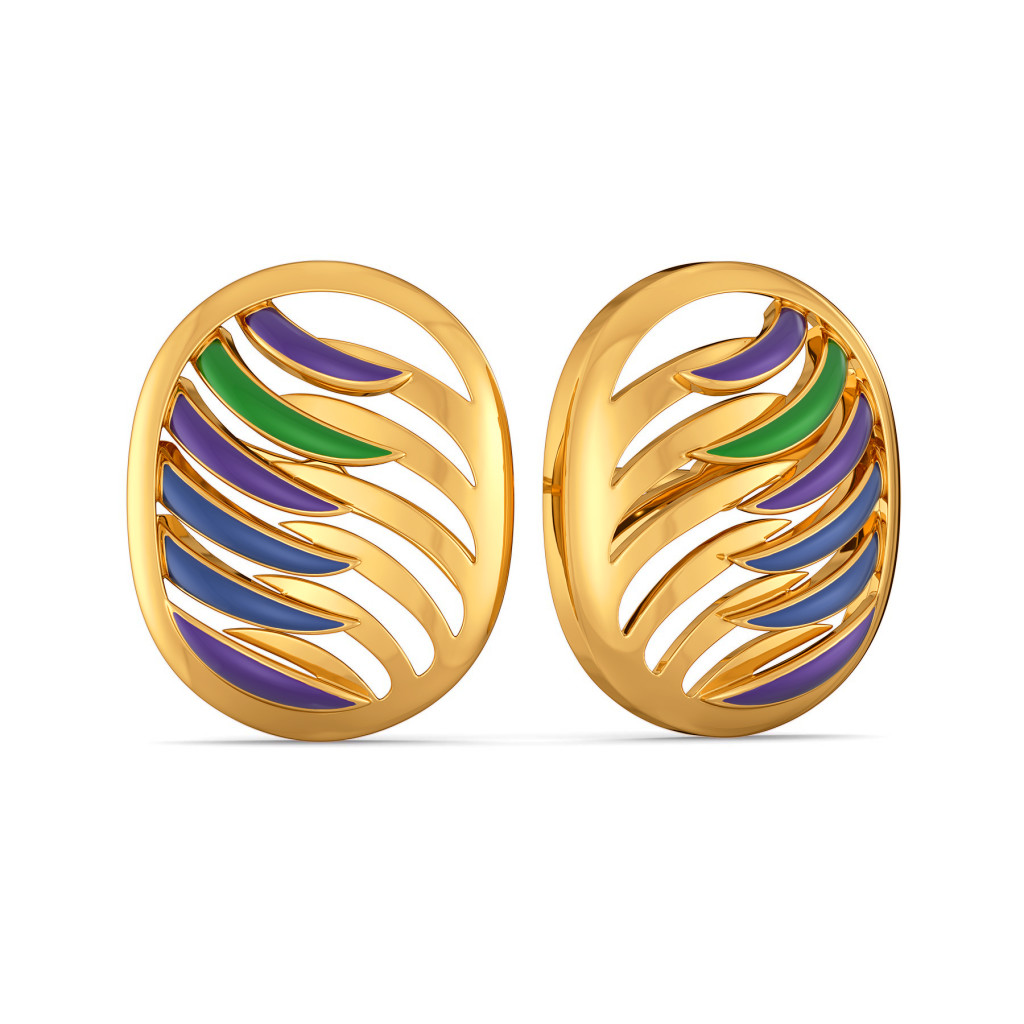 Plume Pop Gold Earrings