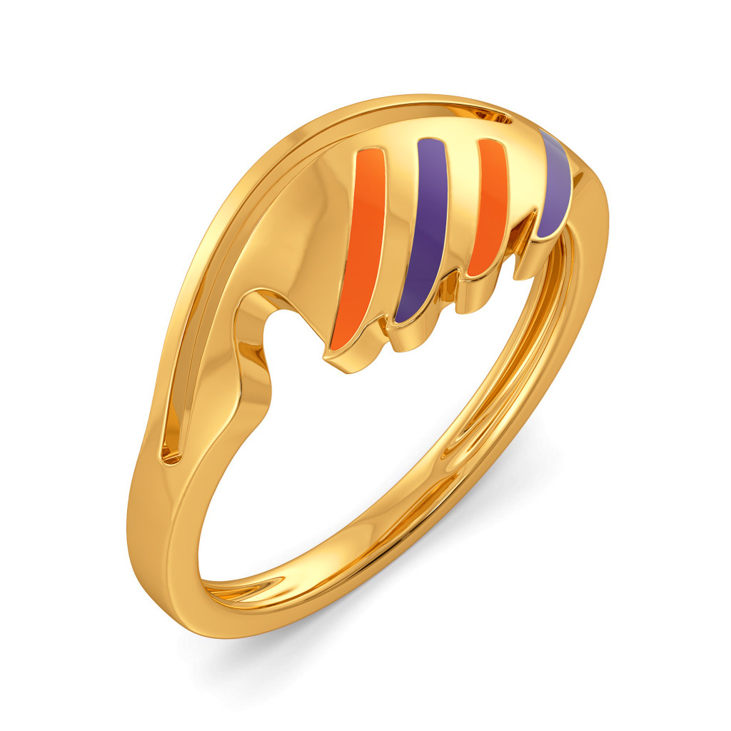 Feather Weather Gold Rings