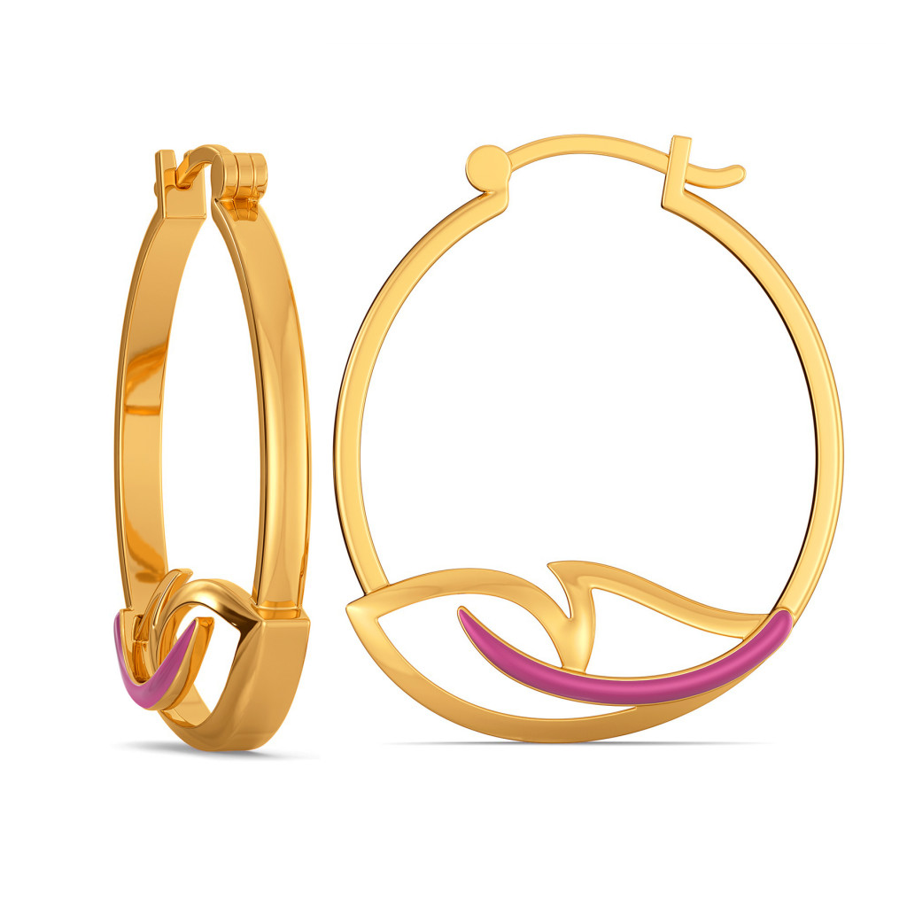 Colour Crest Gold Earrings